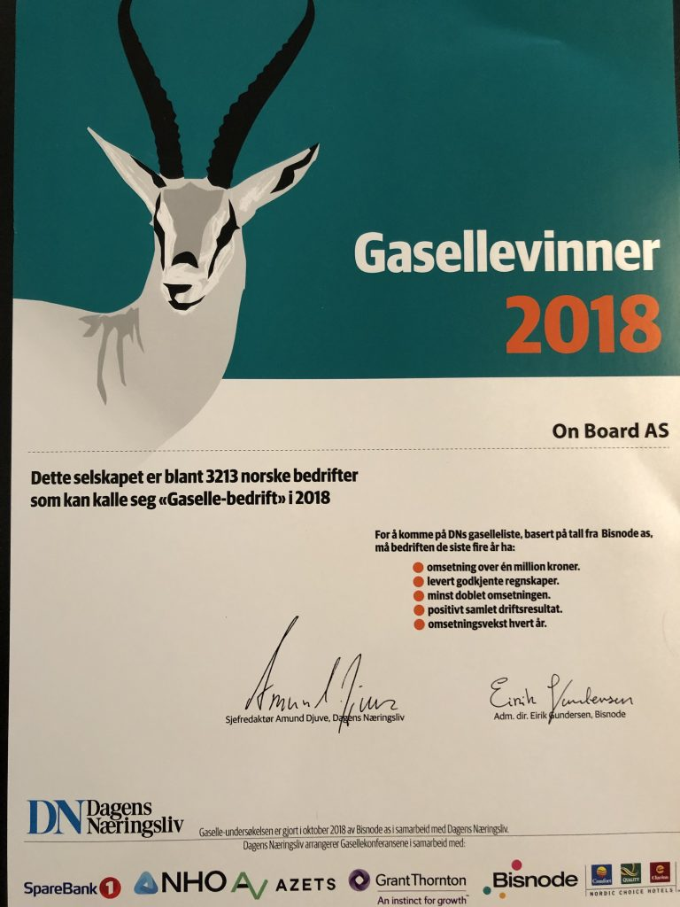 Gasellebedriften On Board AS
